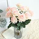 billige Kunstige blomster & Vaser-vakre rose kunstige blomster silke liten bukettfest vår bryllup dekorasjon falske blomster