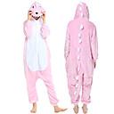 ราคาถูก ชุดนอน Kigurumi-ผู้ใหญ่ Kigurumi Pajama Piggy / Pig รูปสัตว์ Onesie Pajama Polar Fleece สีชมพู คอสเพลย์ สำหรับ ผู้ชายและผู้หญิง สัตว์ชุดนอน การ์ตูน Festival / Holiday เครื่องแต่งกาย