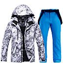 ราคาถูก ชุดสำหรับเล่นกีฬาสกี-ARCTIC QUEEN สำหรับผู้ชาย activewear ชุด Ski Jacket & Pants กันลม Warm Detachable Cap Skiing Snowboarding กีฬาฤดูหนาว POLY เป็นมิตรต่อสิ่งแวดล้อม โพลีเอสเตอร์ กางเกง Tracksuit Tops Ski Wear