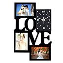 baratos Relógios de Parede Rústicos-Moldura relógio de parede novo diy moderno desigh arte imagem relógio sala de estar decoração de casa horloge