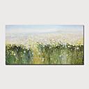 Χαμηλού Κόστους Πίνακες με Λουλούδια/Φυτά-Hang-ζωγραφισμένα ελαιογραφία Ζωγραφισμένα στο χέρι - Αφηρημένο Τοπίο Μοντέρνα Περιλαμβάνει εσωτερικό πλαίσιο