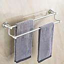 billiga Set med badrumstillbehör-Handduksstång Ny Design / Häftig Moderna Rostfritt stål 1st 2-torn bar Väggmonterad