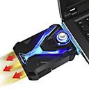 baratos Suportes e Cooling Pads-Portátil usb extração de ar laptop notebook cooler refrigeração silenciosa vácuo ventilador radiador rápido dissipador de calor velocidade ajustável