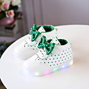 Χαμηλού Κόστους Παιδικά αθλητικά-Κοριτσίστικα LED / Ανατομικό / Φωτιζόμενα παπούτσια PU Αθλητικά Παπούτσια Νήπιο (9m-4ys) / Τα μικρά παιδιά (4-7ys) Φιόγκος / Διαφορετικά Υφάσματα / LED Μαύρο / Λευκό / Ροζ Άνοιξη / Φθινόπωρο