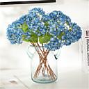 povoljno Umjetna Cvijet-3pcs simulacija cvijeta hortenzija ukras za dom dnevni boravak blagovaonski stol buket 32cm