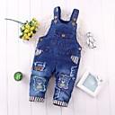 billige BabyGuttbukser-Baby Gutt Grunnleggende Trykt mønster Kjeledress og jumpsuit Blå