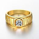 Χαμηλού Κόστους Αντρικά Δαχτυλίδια-Ανδρικά Δαχτυλίδι 1pc Χρυσό Τριανταφυλλί Χρυσό Ασημί Επιχρυσωμένο Προσομειωμένο διαμάντι Κράμα Geometric Shape Μοντέρνα Καθημερινά Αργίες Κοσμήματα Γεωμετρική Λουλούδι Απίθανο