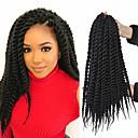 billiga Hårflätor-Lockigt Torr twist Flätor dreadlocks Virkade flätor Syntetiskt hår 100% kanekalon hår flätor 22inch Hår till flätning 1 st. Luktfri Värmetåligt