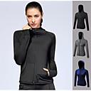 ราคาถูก เสื้อ, กางเกงขายาวและกางกางขาสั้นสำหรับใส่วิ่ง-สำหรับผู้หญิง useless เสื้อกันหนาวหมวกแจ็คเก็ต ซิปเต็มรูปแบบ สีดำ Black Combo สีน้ำเงินกรมท่า สีเทา สแปนเด็กซ์ โยคะ การออกกำลังกาย ยิมออกกำลังกาย Zip Top แขนยาว กีฬา ชุดทำงาน / ฤดูหนาว / ยืด