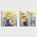 Χαμηλού Κόστους Πίνακες Τοπίων-Hang-ζωγραφισμένα ελαιογραφία Ζωγραφισμένα στο χέρι - Άνθινο / Βοτανικό Μοντέρνα Περιλαμβάνει εσωτερικό πλαίσιο
