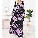Χαμηλού Κόστους Μοδάτα Σκουλαρίκια-Γυναικεία T Shirt Φόρεμα - Φλοράλ Μακρύ