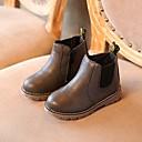 Χαμηλού Κόστους Παιδικές μπότες-Κοριτσίστικα Μπότες Μάχης PU Μπότες Μεγάλα παιδιά (7 ετών +) Μαύρο / Κάμελ / Γκρίζο Χειμώνας / Μπότες στη Μέση της Γάμπας