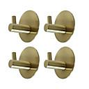 Χαμηλού Κόστους Σετ αξεσουάρ μπάνιου-αυτοκόλλητα στρογγυλά άγκιστρα 4 τεμάχια ανθεκτικά 304 ανοξείδωτα τοίχου κρεμάστρες αδιάβροχο στεγανό λάδι για πόρτες κουζίνας πόρτες γραφείων ντουλάπι-μαύρο ασημί χρυσό 3m10-4y