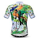 Χαμηλού Κόστους Τζάκετ Ποδηλασίας-21Grams Ανδρικά Κοντομάνικο Φανέλα ποδηλασίας Πράσινο Ποδήλατο Αθλητική μπλούζα Μπολύζες Ποδηλασία Βουνού Ποδηλασία Δρόμου Αναπνέει Ύγρανση Γρήγορο Στέγνωμα Αθλητισμός Πολυεστέρας Ελαστίνη Τερυλίνη