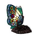 povoljno Stolne svjetiljke-tiffany stil leptir vitraž stolna svjetiljka noćno svjetlo ručno izrađen senzor za noćnu spavaću sobu dnevni boravak