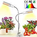 Χαμηλού Κόστους Σκεύη και γκάτζετ κουζίνας-1pcs οδήγησε φυτό μεγαλώνουν φώτα ηλιόλουστος πλήρες φάσμα 45w e27 διπλό κεφάλι ευέλικτο gooseneck για φυτικό λουλούδι θερμοκηπίου
