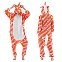 baratos Pulseiras Masculinas-Adulto Pijamas Kigurumi Unicórnio Pijamas Macacão fibra de poliéster Vermelho Cosplay Para Homens e Mulheres Pijamas Animais desenho animado Festival / Celebração Fantasias