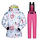 povoljno Skijaška i snowboard odjeća-MUTUSNOW Žene Skijaška jakna i hlače Skijanje Snowboarding Zimski sportovi Vodootporno Vjetronepropusnost Toplo Poliester Sportska odijela Skijaška odjeća / Zima