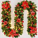 olcso Karácsonyi dekoráció-2.7m / 8.86ft karácsonyi rattan dekorációk karácsonyi díszek ünnepi dekorációk piros / kék / rózsaszín 1db (a vonólámpák kivételével)