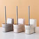 baratos Materiais de Limpeza-Conjunto de escova de vaso sanitário criativo conjunto de escova de limpeza de cerâmica conjunto de limpeza kit de acessórios de banheiro handel de aço inoxidável