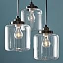 Χαμηλού Κόστους Σχέδιο στυλ κεριών-3-Light Mini Πολυέλαιοι Χωνευτό φωτιστικό οροφής Βαμμένα τελειώματα Μέταλλο Γυαλί Δημιουργικό 110-120 V / 220-240 V