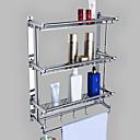 baratos Prateleiras de Banheiro-Prateleira de Banheiro Criativo Moderna Metal 1pç - Banheiro Montagem de Parede