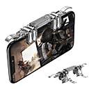 billiga Xbox One Tillbehör-rovtop metal k19 mobiltelefon gaming trigger för pubg mobil gamepad brandknapp sikt nyckel l1r1 gaming shooter pubg controller z2