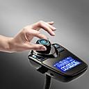 baratos Kits Bluetooth Automotivos/Mãos Livres-T10 transmissor fm bluetooth kit mãos livres para carro mp3 music player adaptador de rádio com controle remoto para iphone / samsung lg smartphone