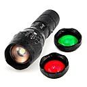 Χαμηλού Κόστους Προβολείς-UltraFire 1pc 10 W Φακός Με ροοστάτη / Ανατριχιαστικός Άσπρο / Κόκκινο / Μπλε 3.7 V Εξωτερικός Φωτισμός 1 LED χάντρες Χριστούγεννα / Πρωτοχρονιά