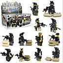 billige Byggeblokker-Byggeklosser Militære blokker Konstruksjonssett Leker Soldier kompatibel Legoing Moro Klassisk Gutt Jente Leketøy Gave / Pedagogisk leke