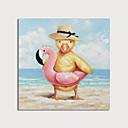 billiga Djurporträttmålningar-Hang målad oljemålning HANDMÅLAD - Abstrakt Djur Moderna Inkludera innerram