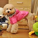 billiga Hundkläder-Hund Kappor Huvtröjor Pyjamas Vinter Hundkläder Purpur Rosa Kostym Cotton Enfärgad Ledigt / vardag S M L XL XXL