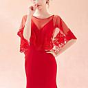 ราคาถูก ผ้าคลุมสำหรับชุดแต่งงาน-เสื้อไม่มีแขน ชุดชั้นในแบบChinlon งานแต่งงาน / งานปาร์ตี้ / งานราตรี Women's Wrap กับ ลูกไม้ / ไม่มีลาย ผ้าคลุม