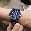 Χαμηλού Κόστους Αθλητικό Ρολόι-Ανδρικά Αθλητικό Ρολόι Ρολόι Καρπού Παρακολουθήστε την αεροπορία Ιαπωνικά Χαλαζίας σιλικόνη Μαύρο / Μπλε 30 m Ημερολόγιο Χρονόμετρο Νυχτερινή λάμψη Αναλογικό Πολυτέλεια Καθημερινό Μοντέρνα -