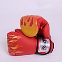Χαμηλού Κόστους Γάντια του μποξ-Γάντια για σάκο του μποξ Για Πυγμαχία Προστατευτικό Δερμάτινο Γιούνισεξ - Μαύρο Κόκκινο
