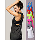 Χαμηλού Κόστους Φροντίδα Υγείας-YUERLIAN Γυναικεία Maieu de Alegat T Πίσω Μαύρο Λευκό Φούξια Πράσινο Κόκκινο Ελαστίνη Γιόγκα Fitness Γυμναστήριο προπόνηση Γιλέκο Αμάνικο Αθλητισμός Ρούχα Γυμναστικής / Υψηλή Ελαστικότητα / Αναπνέει