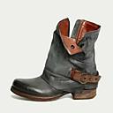 Χαμηλού Κόστους Στολές της παλιάς εποχής-Γυναικεία Μπότες Παπούτσια άνεσης Χαμηλό τακούνι Στρογγυλή Μύτη PU Μποτίνια Φθινόπωρο & Χειμώνας Μαύρο / Καφέ / Γκρίζο