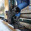 Χαμηλού Κόστους Γυναικείες Μπότες-Γυναικεία Μπότες Παπούτσια άνεσης Επίπεδο Τακούνι Στρογγυλή Μύτη PU Μπότες στη Μέση της Γάμπας Φθινόπωρο & Χειμώνας Βυσσινί / Μπλε / Γκρίζο