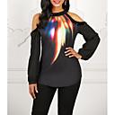 baratos Botas Femininas-Mulheres Camiseta Galáxia Preto