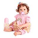 Χαμηλού Κόστους Κούκλες σαν αληθινές-NPK DOLL Κούκλες σαν αληθινές Κορίτσι κορίτσι Μωρά Κορίτσια 20 inch Σιλικόνη Βινύλιο - όμοιος με ζωντανό Χαριτωμένο Χειροποίητο Ασφαλής για παιδιά Non Toxic Lovely Παιδικά Κοριτσίστικα Παιχνίδια Δώρο
