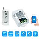 billige Smartbrytere-smart bryter ac220v 1ch relébryter / mobilappkontroll / 2,4 g wifi / wifi rf fjernkontroll av / på app stemmestyring / tidsfunksjon / status tilbakemelding