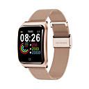 billige Smartklokker-f9 rustfritt stål smartwatch bluetooth fitness tracker støtte hjertefrekvens / blodtrykksmåling sport smart klokke for apple / samsung / android telefoner