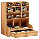 baratos Arrumação e Organização-De madeira Criativo Casa Organização, 1pç Suportes e Caixas de Canetas