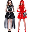 Χαμηλού Κόστους Κοστούμια για Ενήλικες-Φανταστική νύφη Φορέματα Στολές Ηρώων Ενηλίκων Ανδρικά Στολές Ηρώων Halloween Halloween Γιορτές / Διακοπές Spandex Πολυεστέρας Μαύρο / Ρουμπίνι Ανδρικά Γυναικεία Αποκριάτικα Κοστούμια