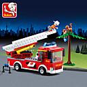 Χαμηλού Κόστους Building Blocks-JIE STAR Παιχνίδια αυτοκίνητα Τουβλάκια Κατασκευασμένα Παιχνίδια Εκπαιδευτικό παιχνίδι Πυροσβεστικά Πυροσβεστικό όχημα Γιούνισεξ Αγορίστικα Κοριτσίστικα Παιχνίδια Δώρο