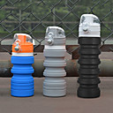 billige Hydrering og filtrering-Foldbar bøtte til turbruk Sammenleggbar vannflaske 500 ml silica Gel PP til Camping & Fjellvandring Jakt og fiske Camping / Vandring / Grotte Udforskning Svart Oransje Blå Grå