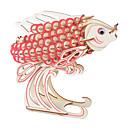 Χαμηλού Κόστους Μοντέλα και μοντέλα-παζλ Παζλ 3D Ξύλινα παζλ Δομικά στοιχεία DIY παιχνίδια Ψάρια Ξύλο