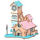 baratos Brincos-Quebra-Cabeças 3D Artesanato de Papel Casa Faça Você Mesmo Cartão de Papel Duro Crianças Unisexo Brinquedos Dom