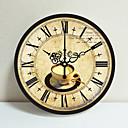 baratos Relógios de Parede Rústicos-Mediterrâneo europeu pastoral rural retro sala relógio de parede criativo decoração simples mudo relógio de parede 1 pacote