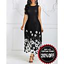 Χαμηλού Κόστους Γυναικείες Κιλότες-Γυναικεία Θήκη Φόρεμα - Φλοράλ, Στάμπα Μακρύ